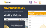 """Bitcoin Cryptocurrency Responsive"" Responsive Website template"