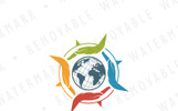 Compass of Worldwide Care Logo Template