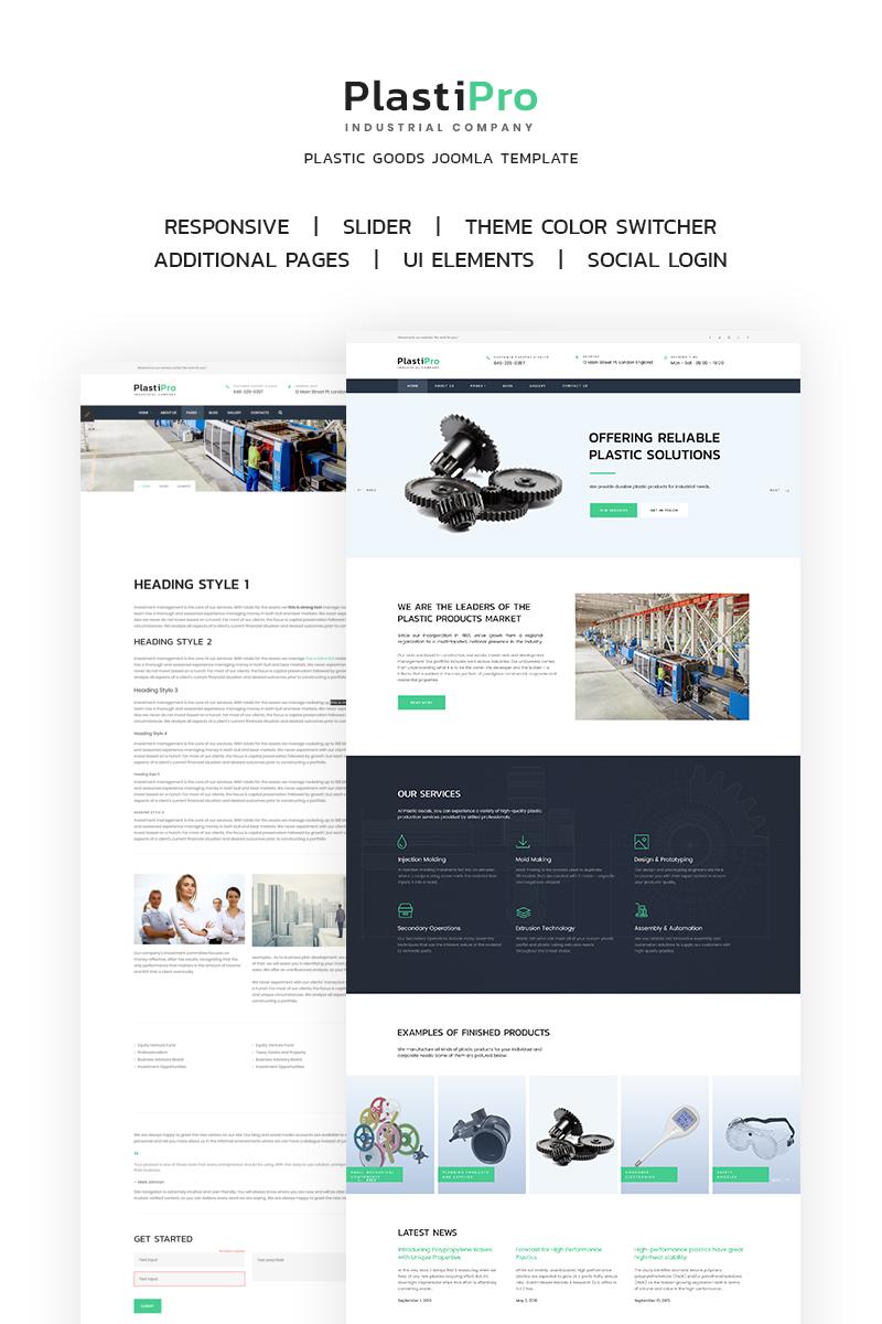 Plantilla Joomla #66905 para Sitio de Industria