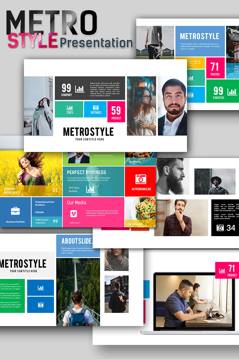 Metro style premium presentation powerpoint template 66949 toneelgroepblik Gallery