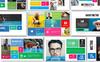 Metro Style Premium Presentation PowerPoint Template Big Screenshot
