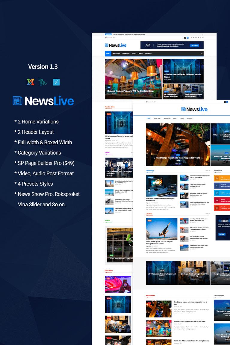 Joomla Vorlage #65707 für Nachrichtenportal