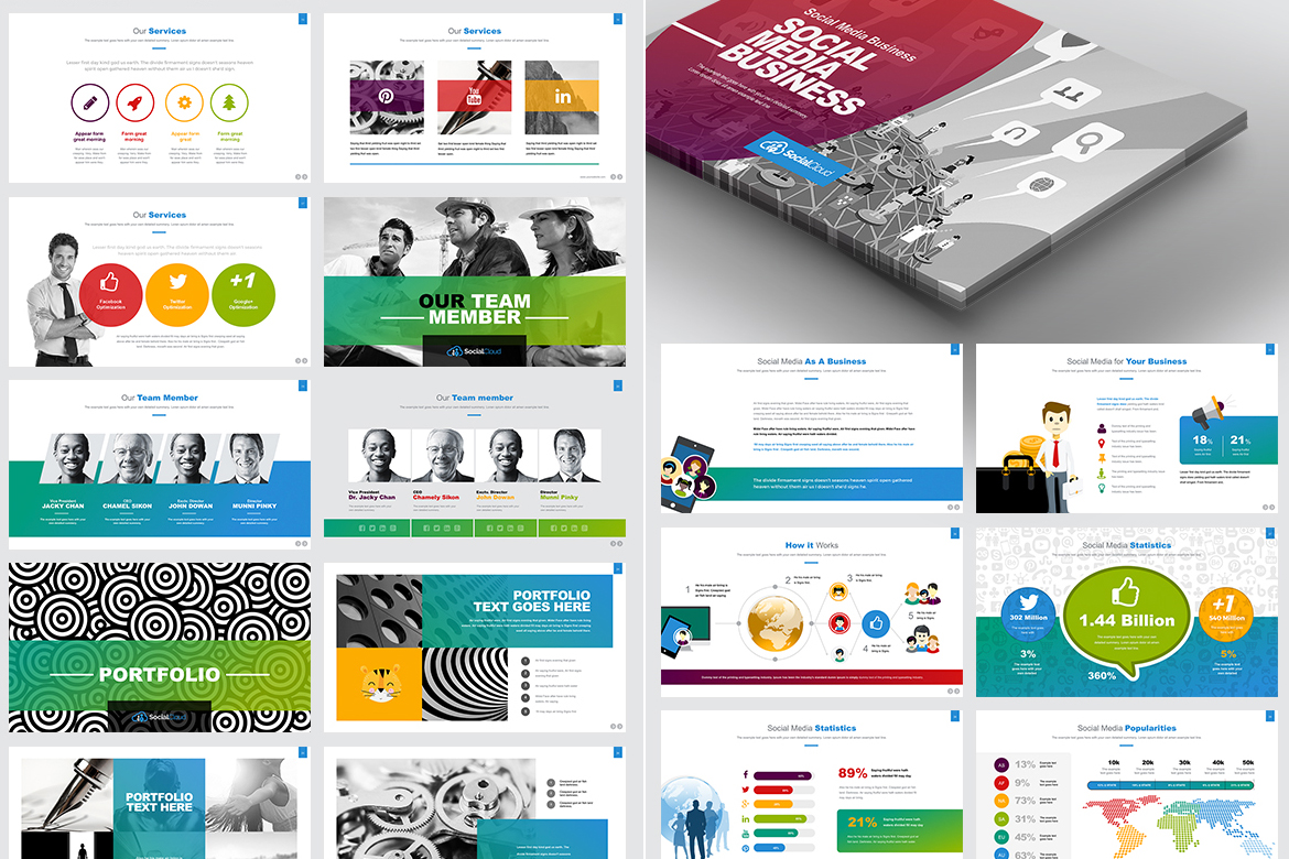 Social media powerpoint template 66967 social media powerpoint template big screenshot toneelgroepblik Image collections