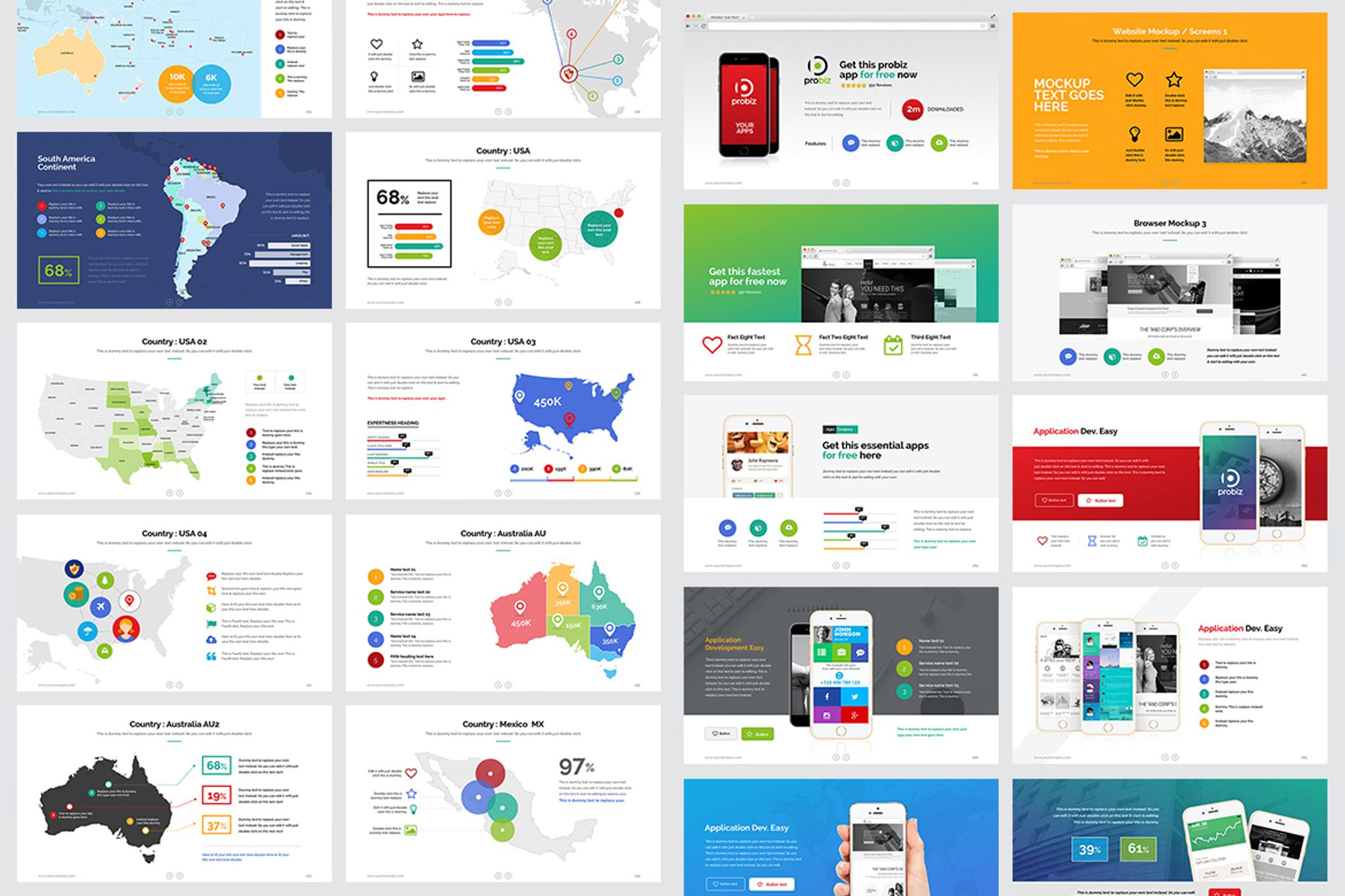 business plan marketing powerpoint template big screenshot