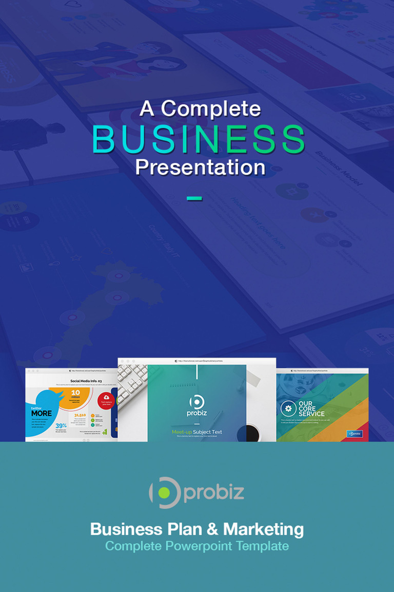 business plan & marketing powerpoint template #67022, Modern powerpoint