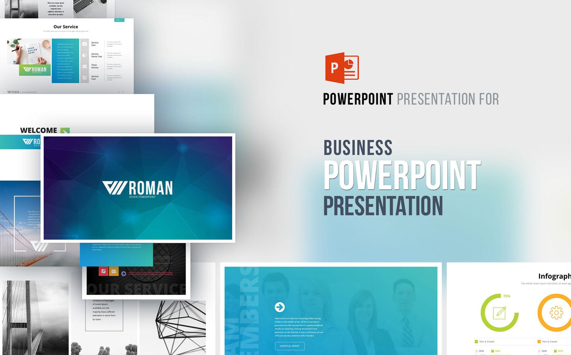 PowerPoint Vorlage #66962 für Marketing-Agentur