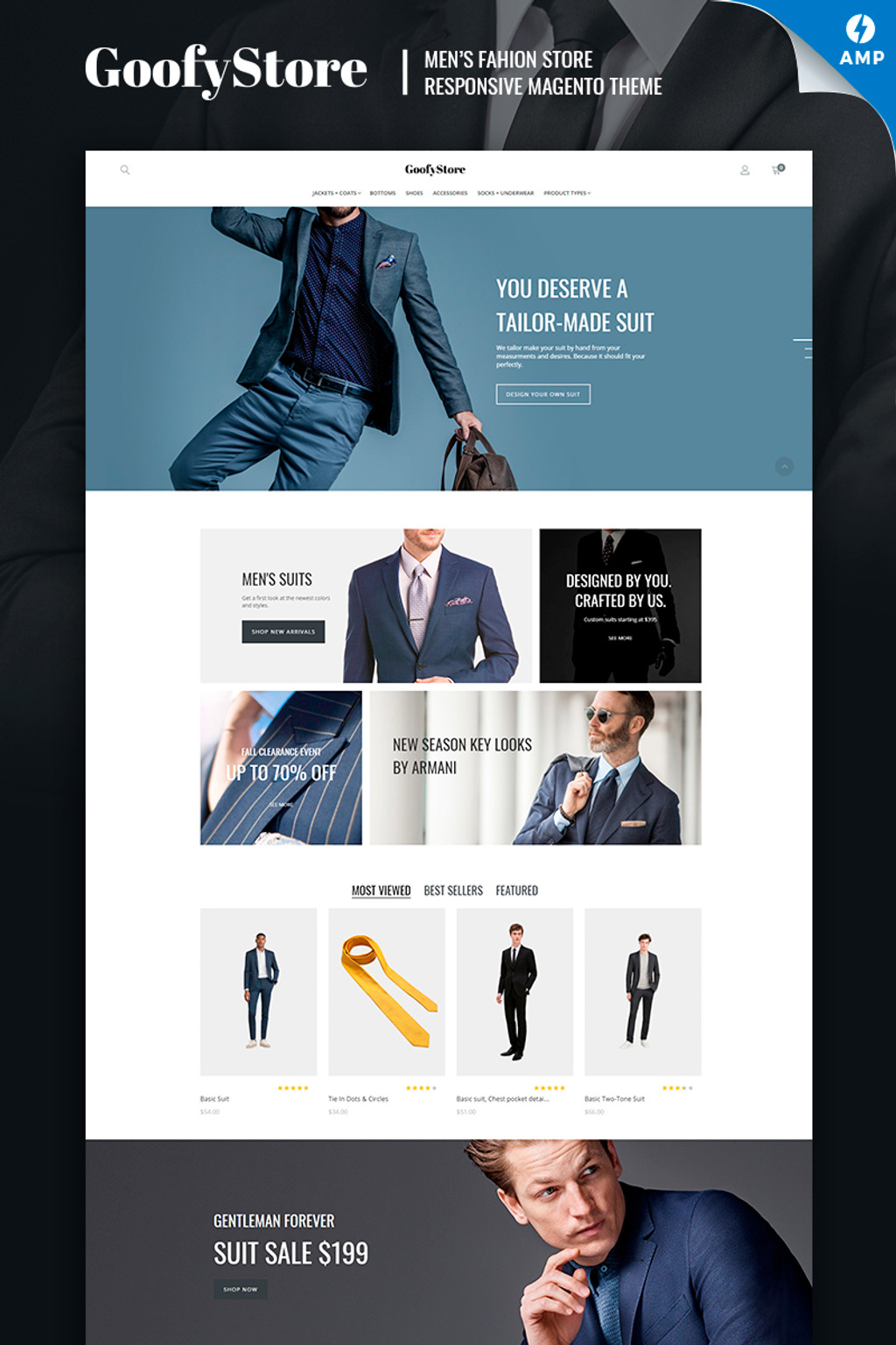 GoofyStore - AMP Men's Fashion Magento Theme Big Screenshot