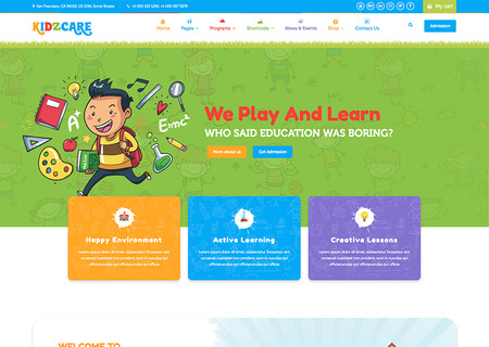 KIDZCARE - Children Day Care Academic Multipurpose Responsive HTML5
