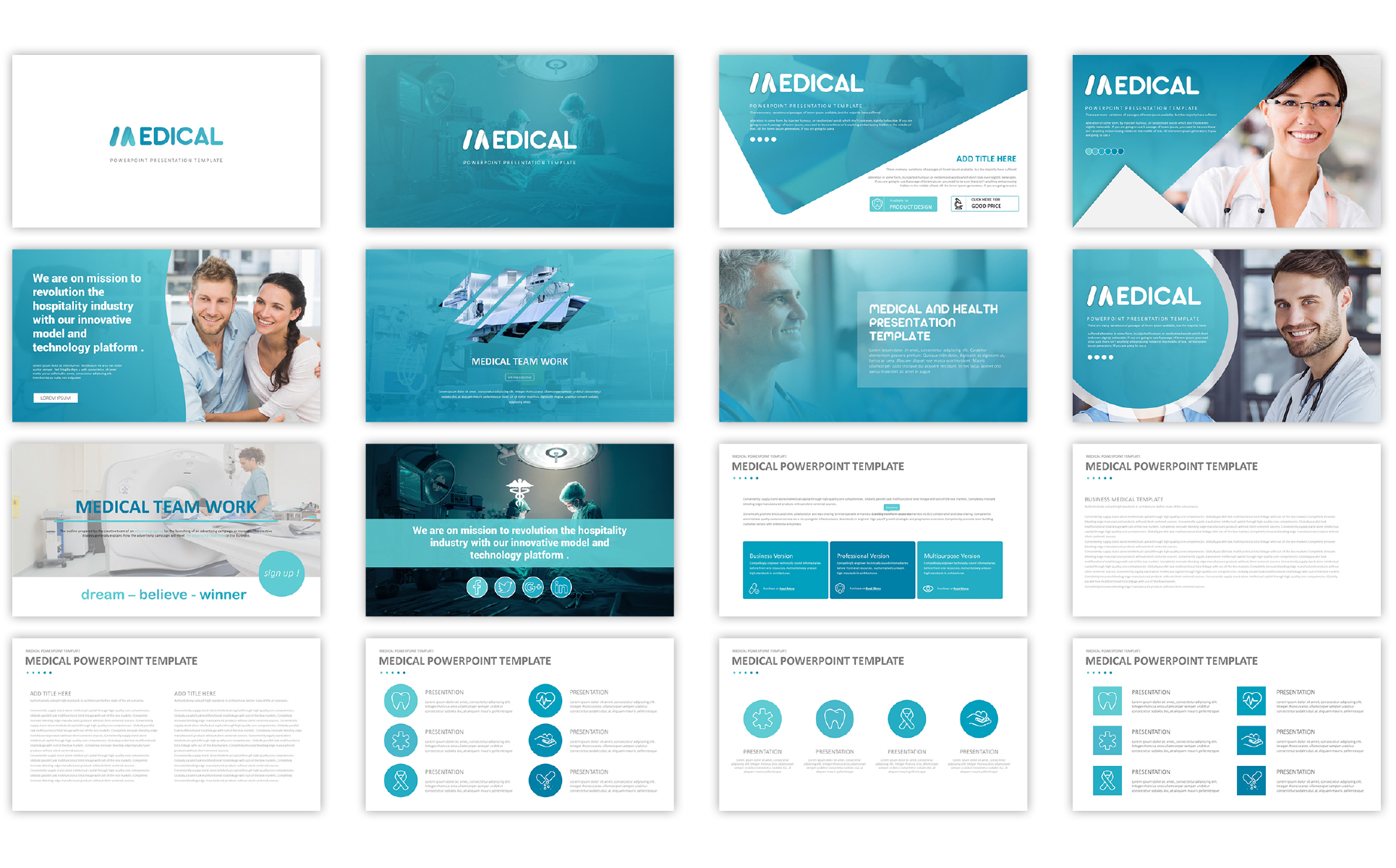 medical presentation template powerpoint template big screenshot