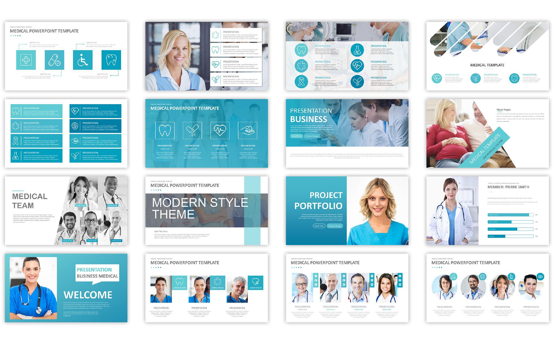 medical presentation template powerpoint template 66958