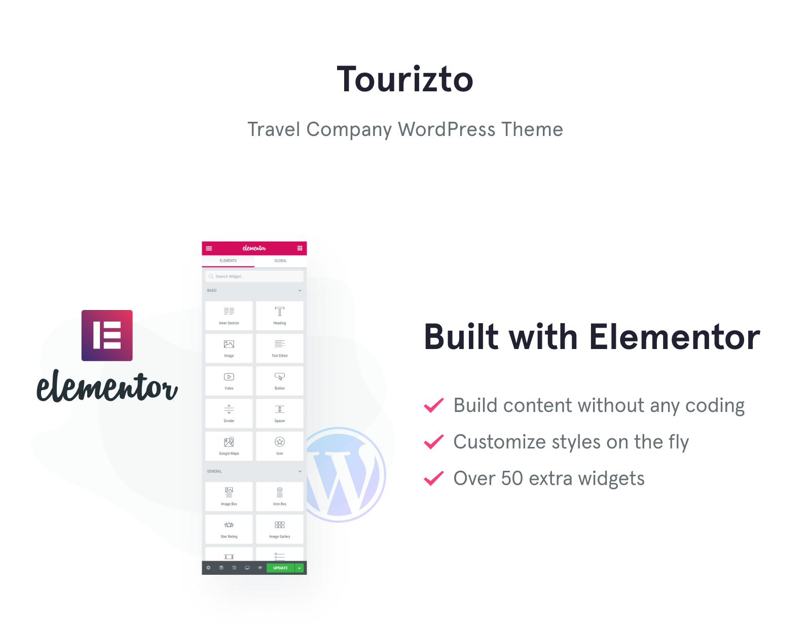 Tourizto - Travel Company Elementor WordPress Theme