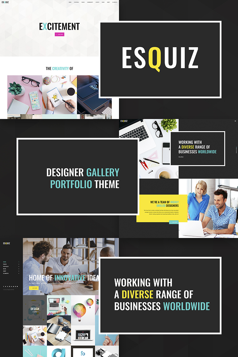 Esquiz - Design Studio WordPress Theme #66943