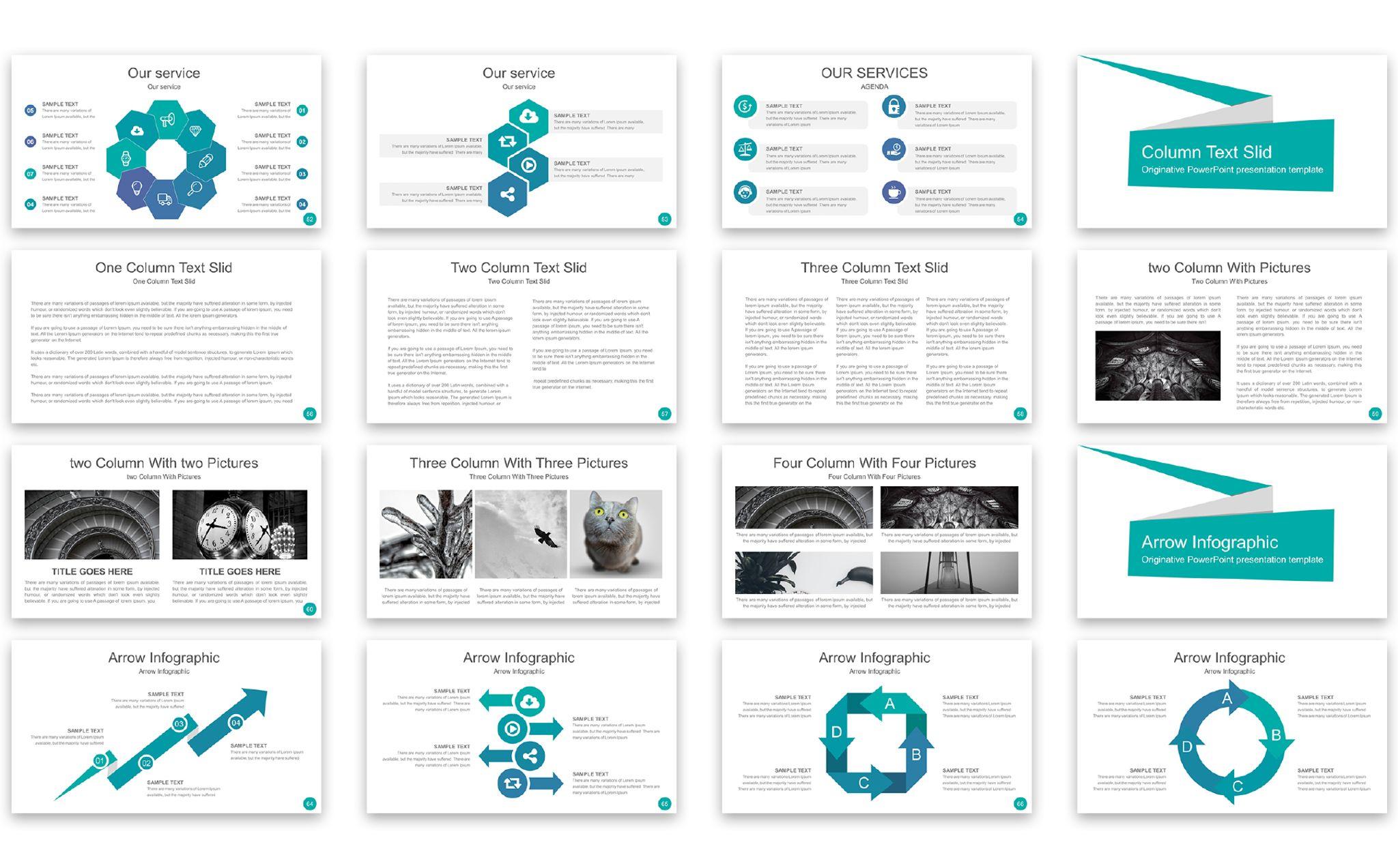 PowerPoint Vorlage #67073 für Zeitschrift