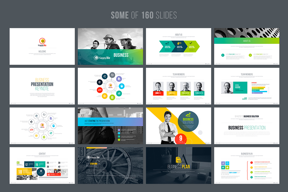 Happybiz business powerpoint template 67132 happybiz business powerpoint template big screenshot wajeb Image collections