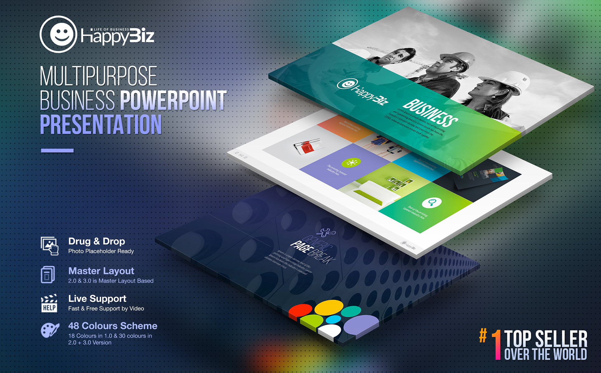Happybiz business powerpoint template 67132 zoom in wajeb Gallery