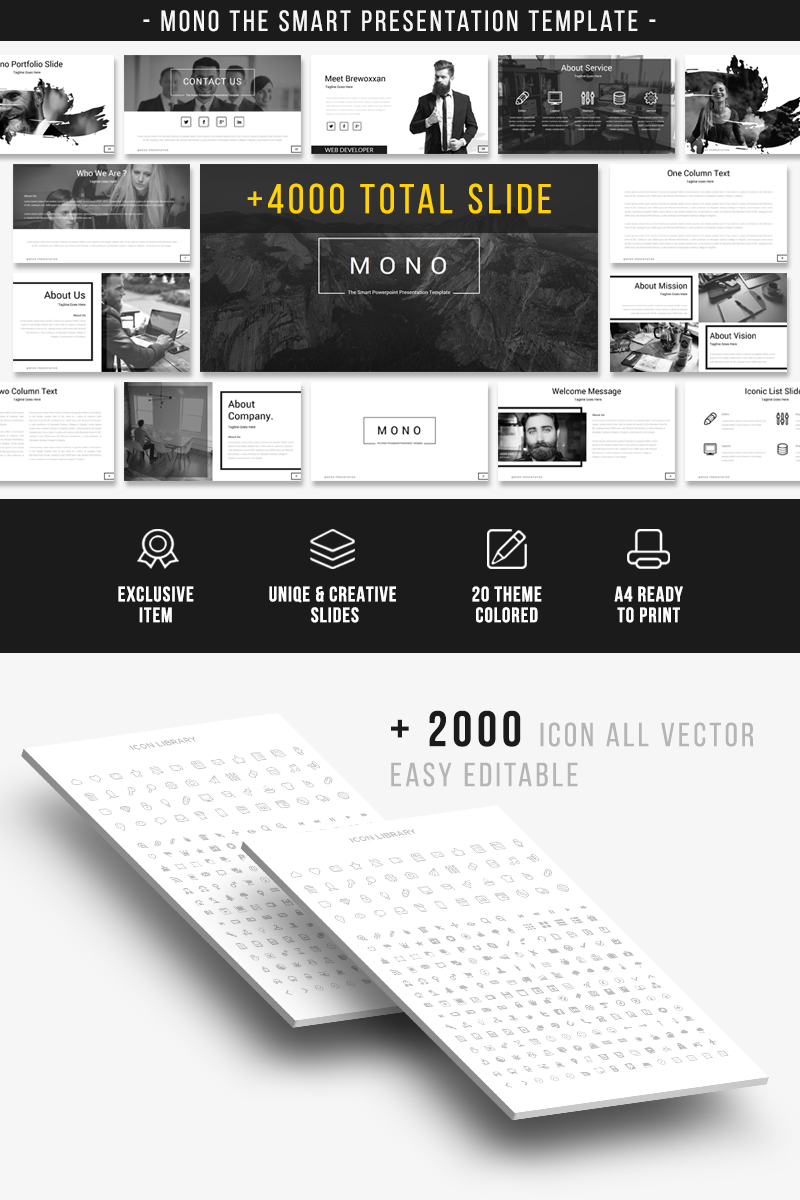 mono the smart presentation powerpoint template 66985