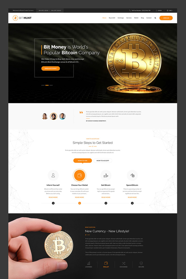Bit munt bitcoin crypto currency landing page template 67007 bit munt bitcoin crypto currency landing page template big screenshot solutioingenieria Images