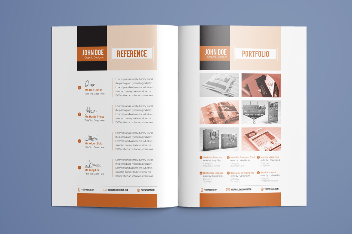 Resume Booklet | Modern / CV | Professional and Creative InDesign ...