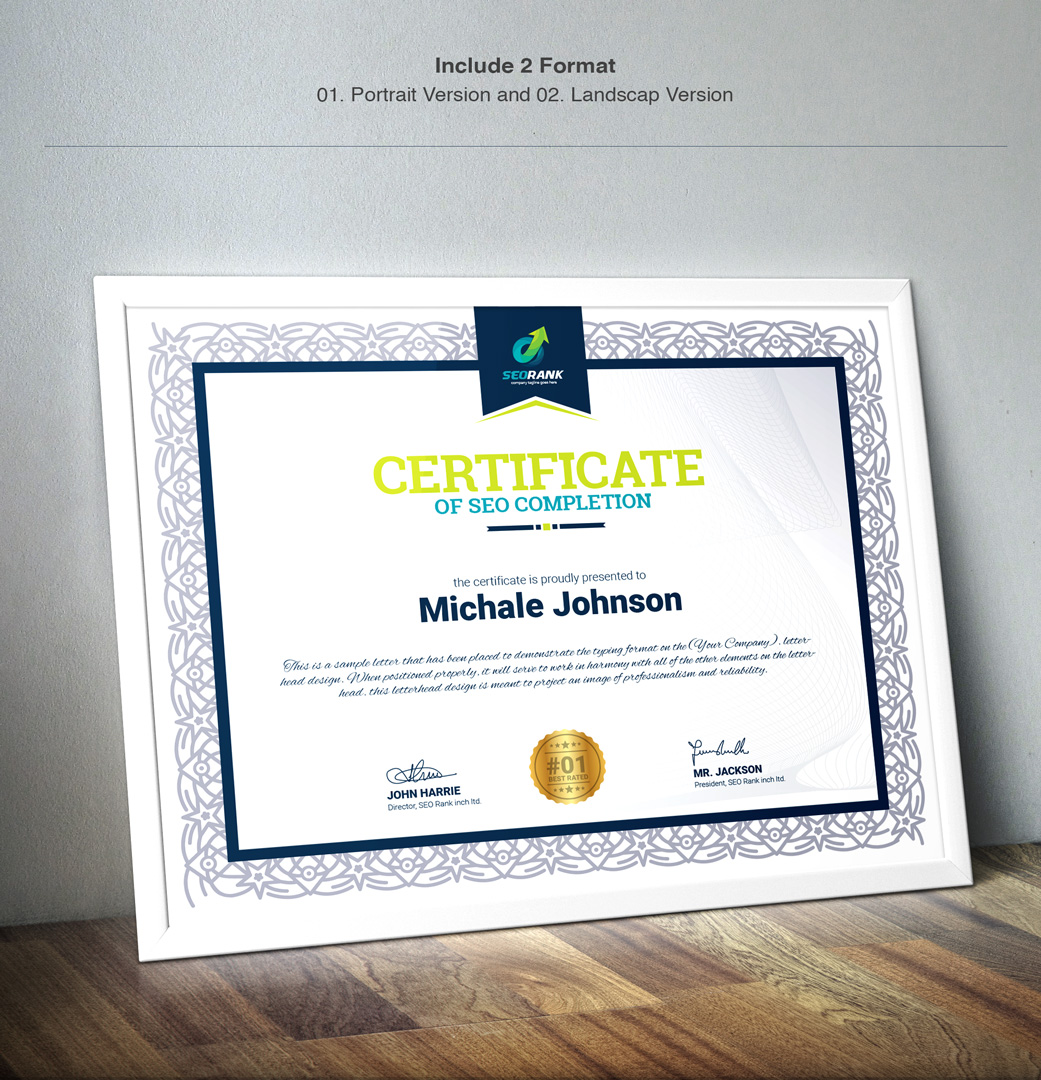 Completion certificate template 67452 completion certificate template big screenshot yelopaper Gallery