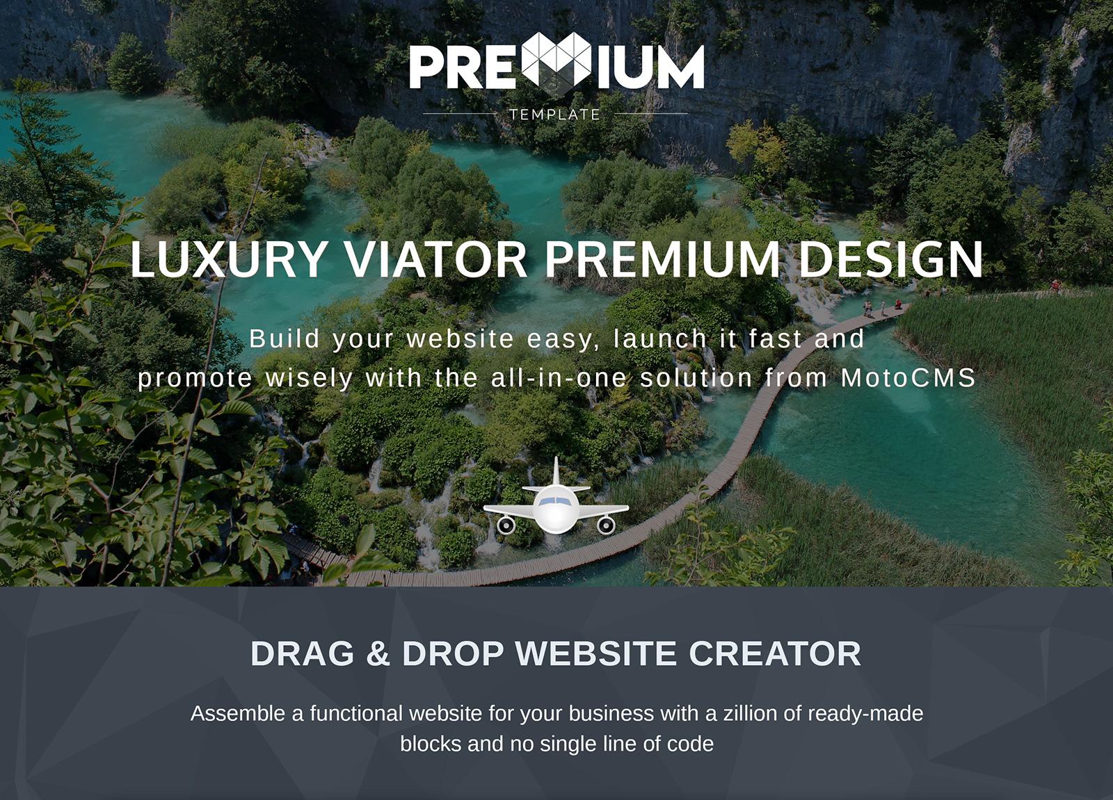 Luxury Viator Moto CMS 3 Template