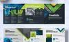 """Unternehmensidentität Vorlage namens """"CreativePainting Tri-fold Brochure"""" Großer Screenshot"""