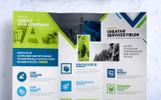 """Unternehmensidentität Vorlage namens """"CreativePainting Tri-fold Brochure"""""""