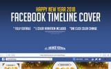 2018 Happy New Year Facebook Timeline Cover Design Social Media