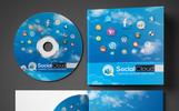 Premium Social Media CD and DVD Case   Cover Design PSD-mall