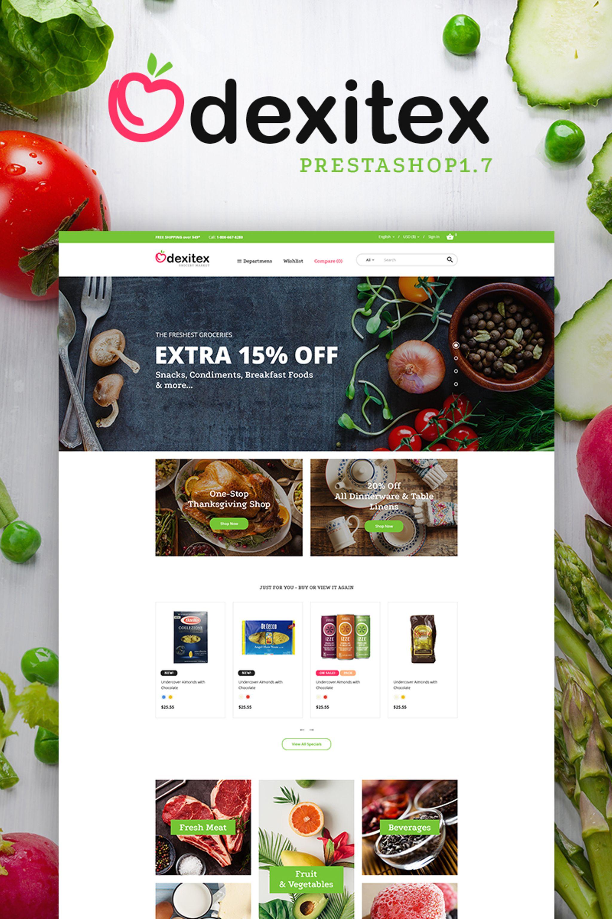Grocery store templates templatemonster dexitex grocery market toneelgroepblik Image collections