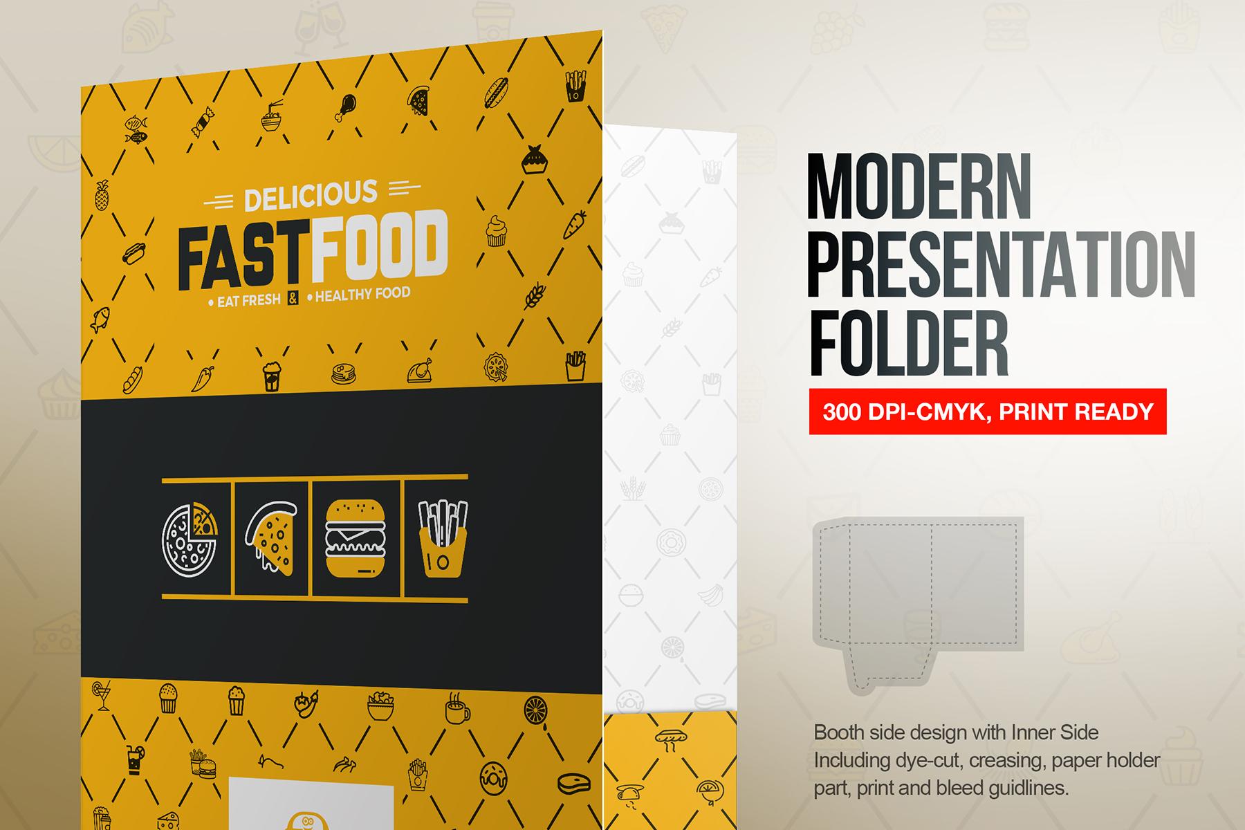 Presentation Folder With Pocket Template Document Holder - Fresh virtual museum template design