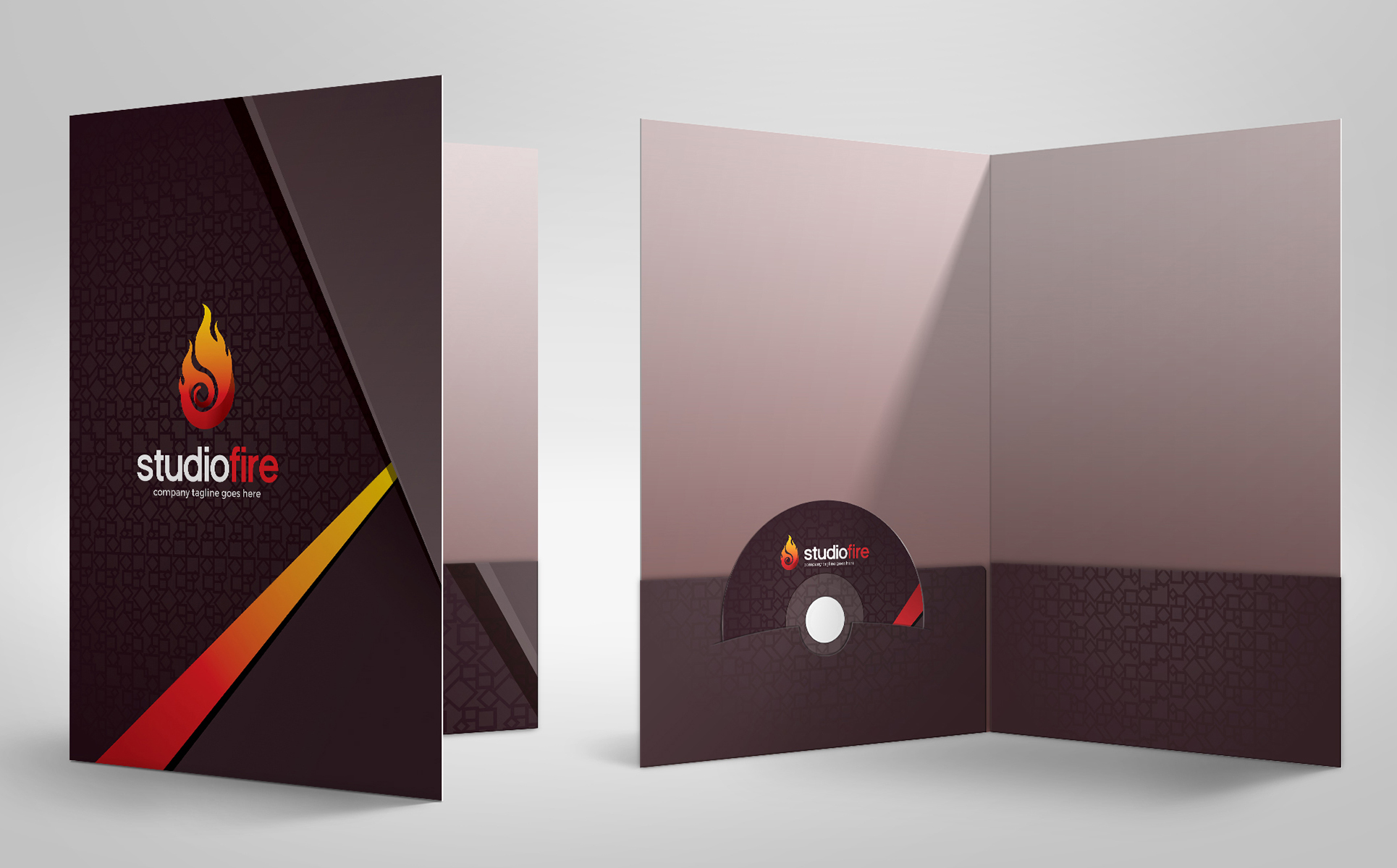 studiofire creative presentation folder with pocket design template