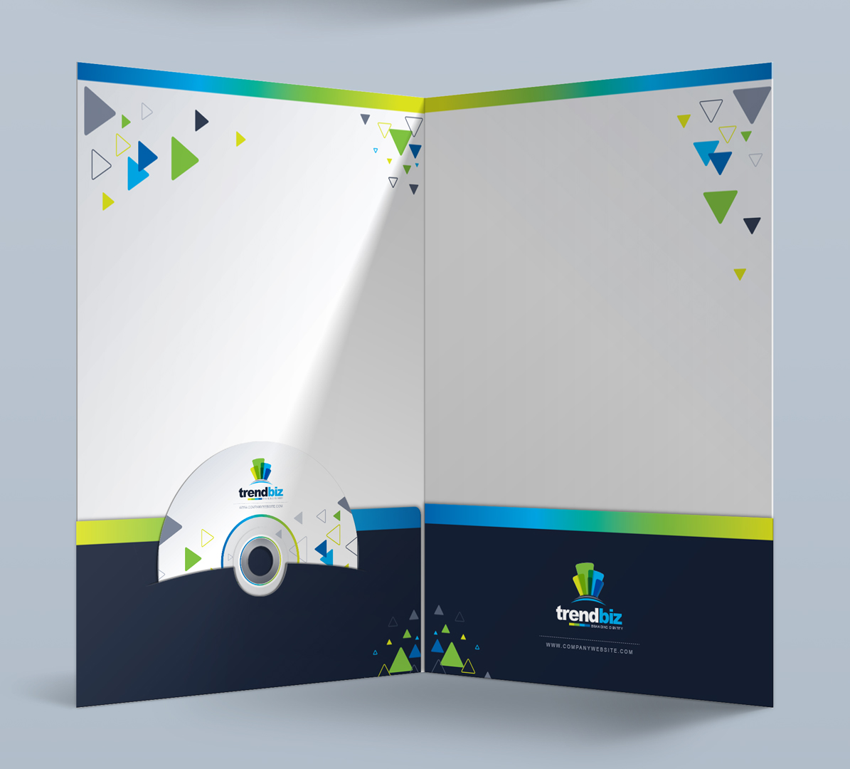 Modern Presentation Folder - Corporate Identity Template #67661