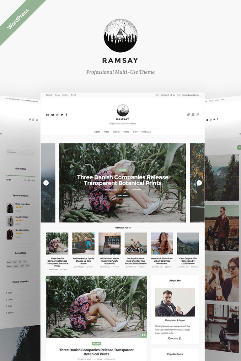 WordPress Theme #67128 für Reiseshop