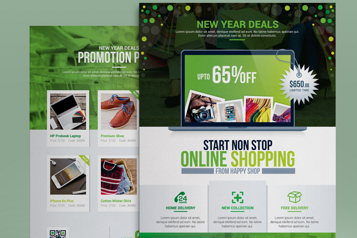 product promotional e commerce business flyer poster template