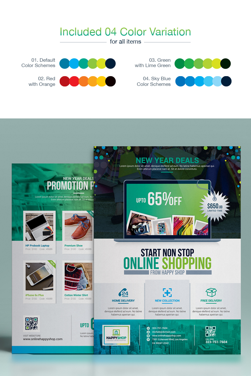 Product Promotional E Commerce Business Flyer Poster Template | Double Side  Design Corporate Identity Template #67749