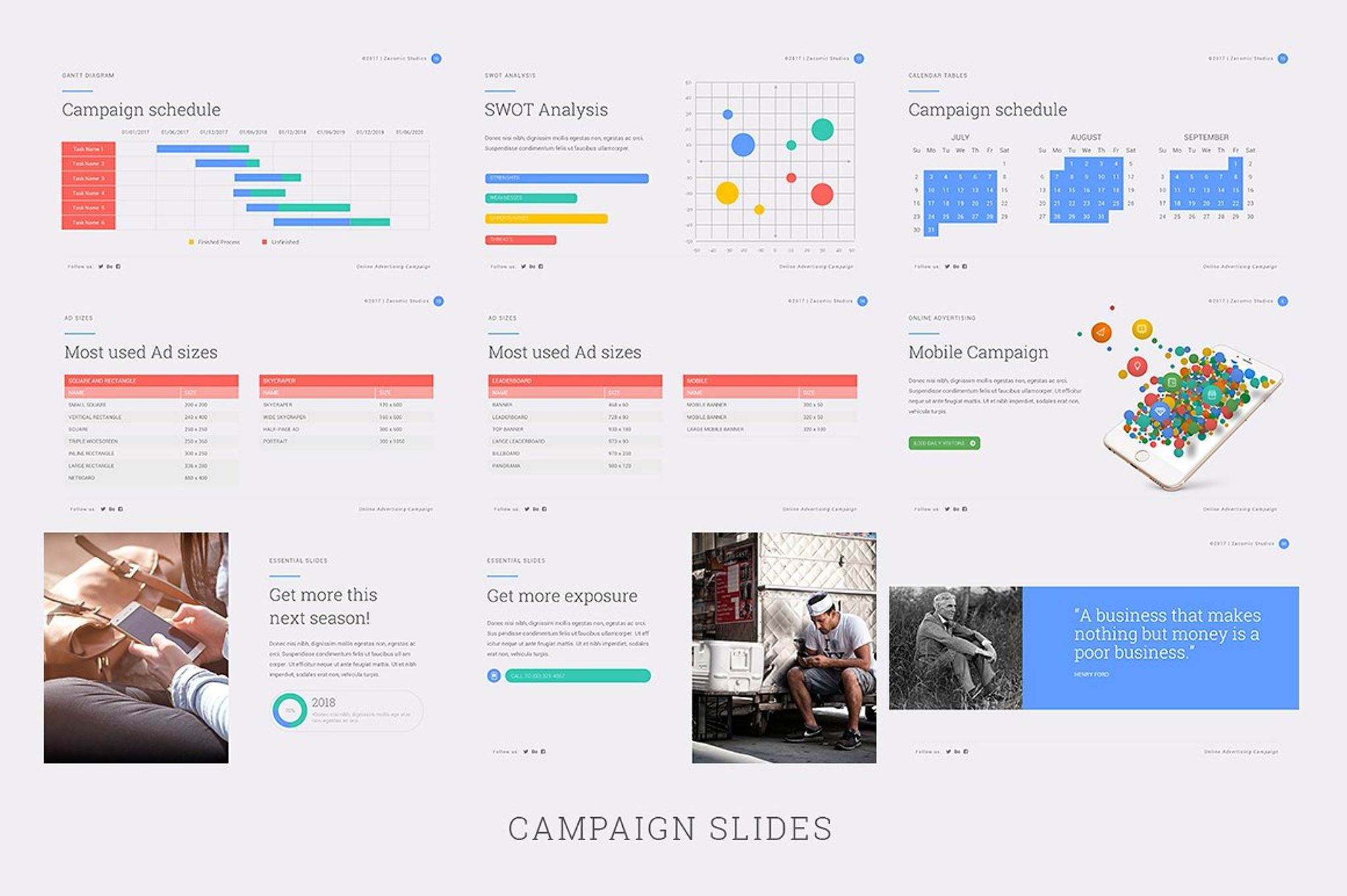 advertiz powerpoint template #67012, Presentation templates