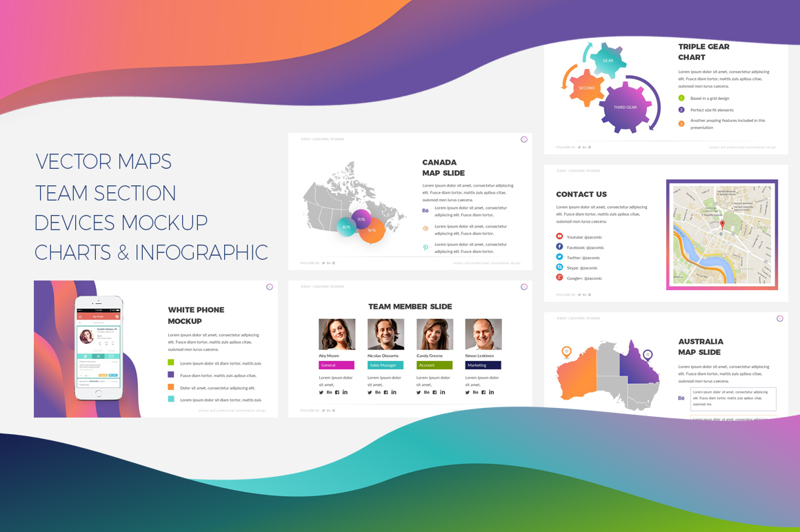 Colorful PowerPoint Template #67853