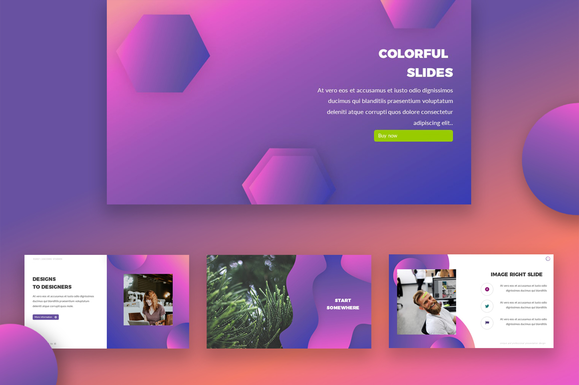 colorful powerpoint template 67853