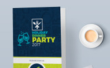 """""""Invitation Card  for Holiday Dinner Party"""" modèle PSD"""