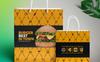 Shopping Bag Design Template for Fast Food and Restaurant Company | Include 4 Size Bag Design Corporate Identity Template Big Screenshot