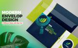 "Unternehmensidentität Vorlage namens ""Envelope Template for SEO and Digital Marketing Company"""