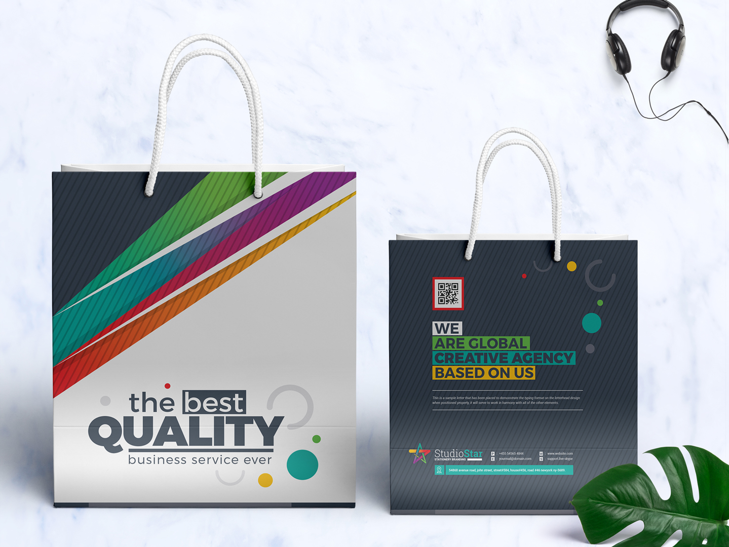 creative business shopping bag design corporate identity template 67070