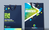 Shopping Bag Design-4 Size Included Editable Corporate Identity Template
