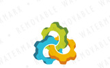 Interlaced Cogwheels Logo Template