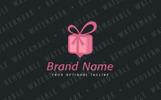 Pin Gift Logo Template