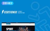 Certionix - motyw WooCommerce dla e-sklepu z suplemantami dla sportowców
