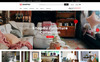 "Tema Magento Responsive #67011 ""Shop4U - Furniture Responsive"" Screenshot grande"
