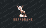 Stag on Cliff Logo Template