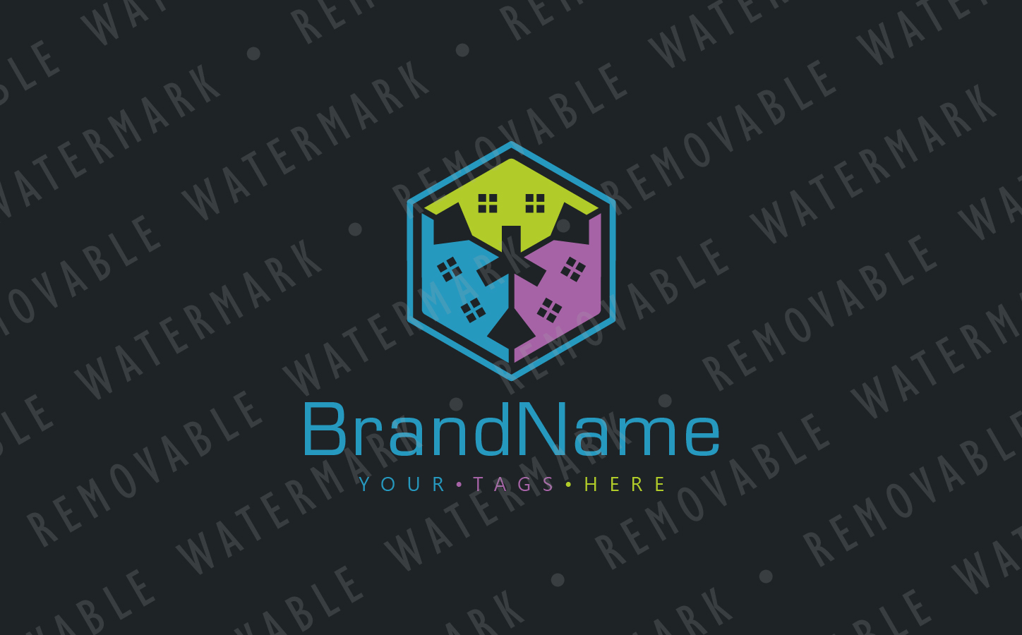 House Box Logo Template #67091 on icon house, chart house, label house,