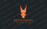Chinese Dragon Logo Template